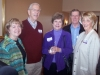 Bonnie Poston Kaiser '64, Fred Kaiser '63, Patricia Clemmer Ehret '63, Chris Ehret, and Nancy Snell Burgess '51