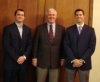 2009 Inductees Anthony Balthazor '03, Tom MacMillan '81, and Dave Schoenwetter '98