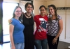Erin Souza '10, Jennifer Keegan, Admission Counselor, Ruby Goh '11, and Ashley Antenore '11, Knox Ambassador