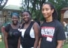 Sherie Ajayi '13, Myriam Ajayi, and Cameron King '12