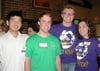 Tao Zhang '12, David Barton '11, Tim Schmeling '11, and Ashley Antenore '11